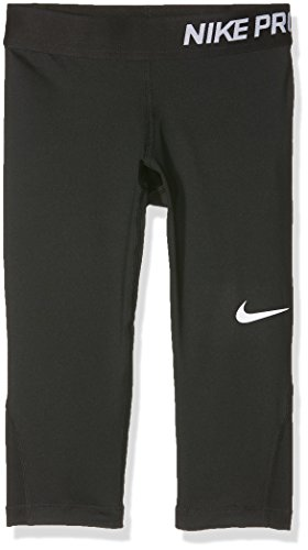 NIKE PRO COOL BIG KIDS' (GIRLS') TRAINING CAPRIS (Large, Black / White)