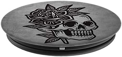 Amazon Com Vintage Skull With Flower American Traditional Tattoo