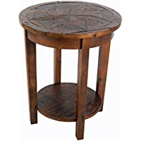 Alaterre Renew Reclaimed Round End Table, Natural