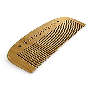 Beard Comb with Gift Box - Fine Toothed - Anti Static & Detangles Your Beard, Mustaches and Head Hair - Pocket Friendly 100% Wood Brush