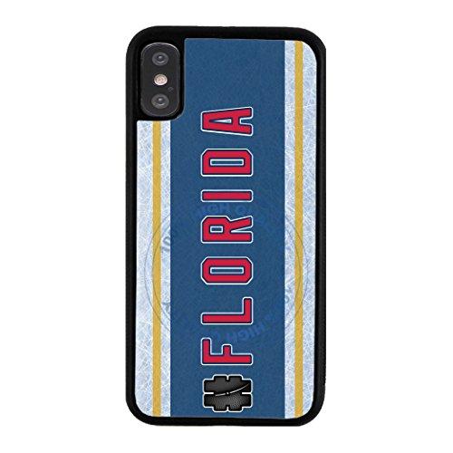 (BleuReign Hockey Team Hashtag Florida #Florida Rubber Phone Case for Apple iPhone X Xs Ten)