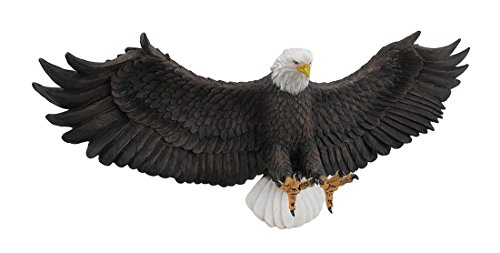 Zeckos American Eagle On Final Approach Wall Mounted Sculpture
