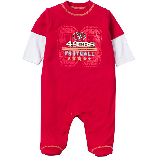Gerber NFL San Francisco 49ers Sleep 'N Play Bodysuit, 3-...