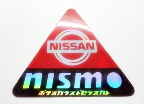 Nisan Nism - Reflected Triangle Racing Bike Car Bumper Stickers Decals