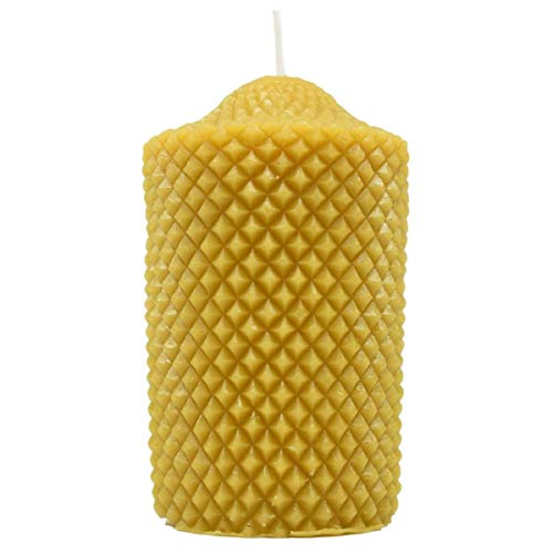 Real Beeswax Engraved Cylinder Candle - Beeswax Candles, Handmade Candle, Candles, Beeswax Decoration Candle, Fancy Candles