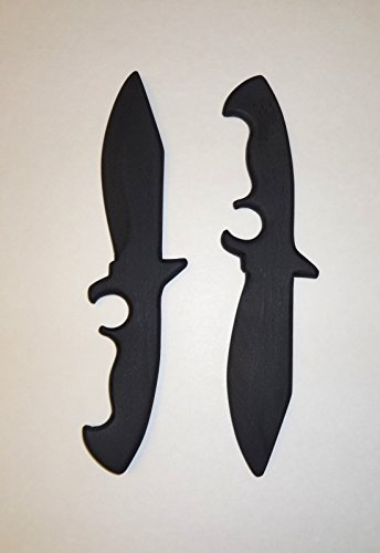 Commando Training Daggers Pair Black Ops Knife Shinobi Samurai Ronin Kali (Black Ronin Knife)