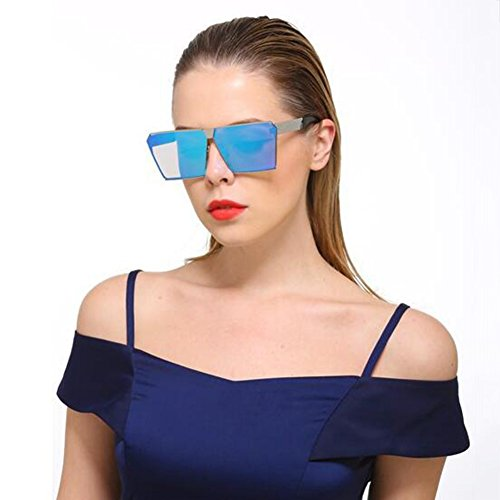 Color Sra Espejo de colores masculinas Gold cuadradas sol ice HONEY blue 5 plano Gafas occidental de pink estilo gafas Gold wBq660