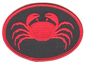 "The Crab Patch parche, by: ""Flag-It"" The Most Trusted Brand, Superior Quality Iron-On / Saw-On Embroidered Patch parche - Each Patch parche is carded & packaged individually in a professional retail package - 3.5"" x 2.25"" Inches - Made in the USA"