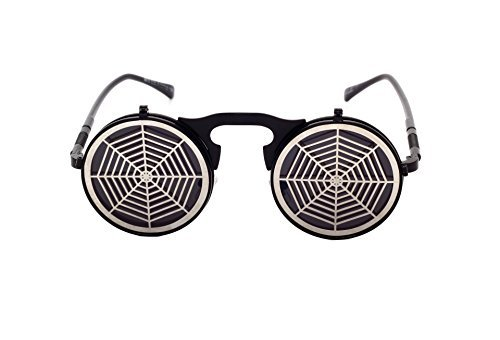 Personality Steam Punks Clamshell Trendsetter Sunglassess - Spider - Discounted Wayfarer Ray Bans