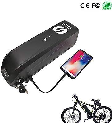 QZF - Batería para Bicicleta eléctrica (52 V, 10,4 Ah, 13 Ah ...