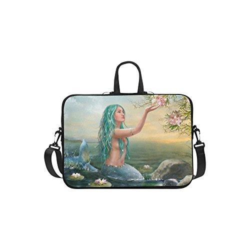InterestPrint Ocean Animal Mermaid Laptop Sleeve Case Bag, M