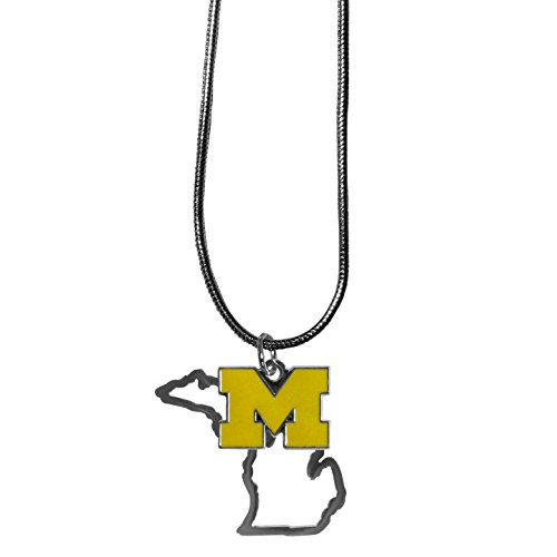 NCAA Michigan Wolverines State Charm Necklace, 16