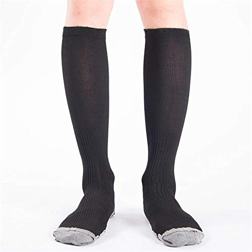 Amazon.com: DeemoShop Men Compression Socks Anti-Fatigue Long Cotton Soccer Socks Knee High Stocking Travel Socks meias calcetines sokken: Kitchen & Dining