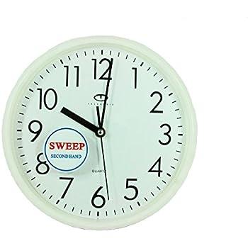 Amazon Com White Quartz Wall Clock W Quiet Sweep Second