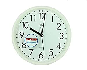 Amazon Com White Quartz Wall Clock W Quiet Sweep Second