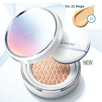 New Laneige BB Cushion Whitening NO. 21 Beige with refill