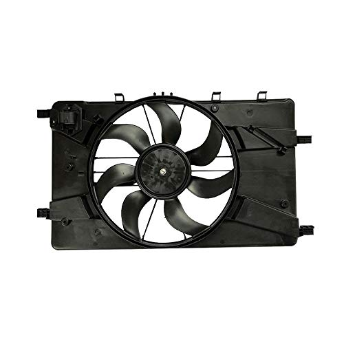 New Radiator AC Condenser Cooling Fan fits Chevy Cruze 2011 2012 2013 2014 2015 Buick Verano 2013 2014 2015 1.4L 1.8L 2.0L L4 GAS GM3115243 GM3115246 KLI51-100103 (Best Gas For Chevy Cruze)