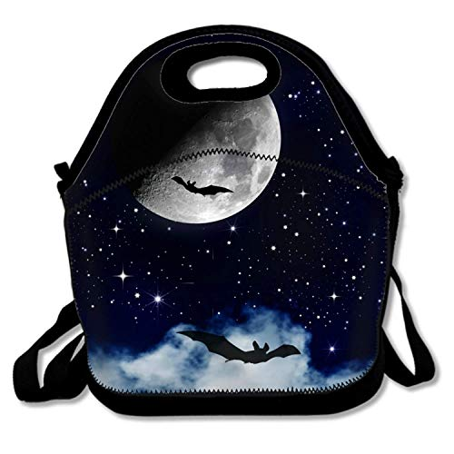 LONSANT Insulated Waterproof Lunch Tote, Easy to Carry to School, Office, Picnic - Halloween Night Sky -
