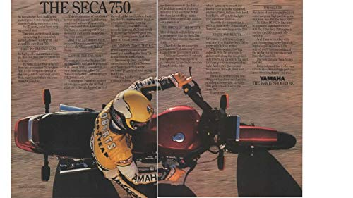 "Magazine Print Ad: 1981 Yamaha SECA 750 Motorcycle, 748 cc,""We Win Races to Build Great Motorcycles.The Way It Should Be"""