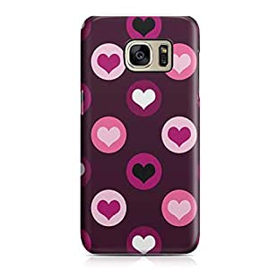 Samsung S7 Edge Case Pretty Heart Love Pattern For Girls Valentine Sleek Low Profile Light Weight Clear Samsung S7 Edge Cover Wrap Around 173