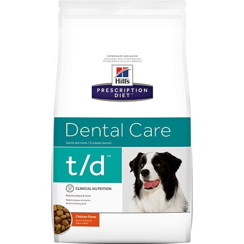 Hill's Prescription Diet t/d Dental Care Chicken Flavor Dry Dog Food 25 lb For Sale