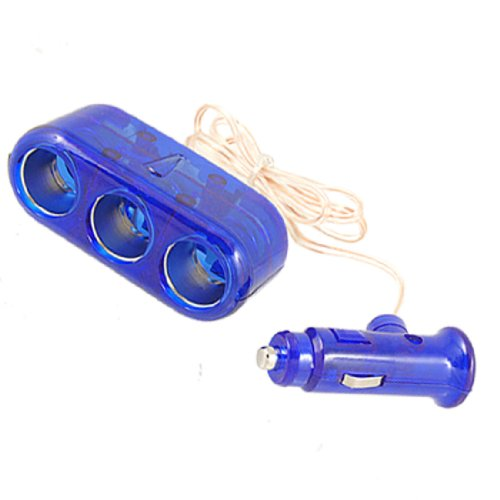 uxcell DC 12V Car Cigar Lighter Triple Socket Splitter