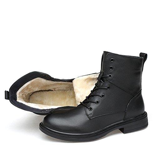 ZQ@QXHerbst und Winter hoch oben Baumwolle Schuhe plus Cashmere Männer leder stiefel Outdoor Freizeitaktivitäten Männer Cashmere Stiefel 7b57e3