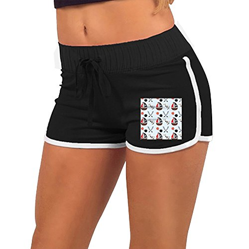 Beaucc Woman Summer Skull Pirate Boat And Bomb Activewear Lounge Shorts