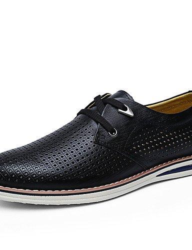 Ei&iLI Zapatos de Hombre Oxfords Exterior / Casual Cuero Negro / Marrón / Caqui , black-us9.5 / eu42 / uk8.5 / cn43 , black-us9.5 / eu42 / uk8.5 / cn43 black-us9.5 / eu42 / uk8.5 / cn43