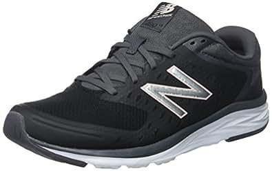 New Balance Women's 680v4 Running-Shoes,Black/Magnet,8 B US