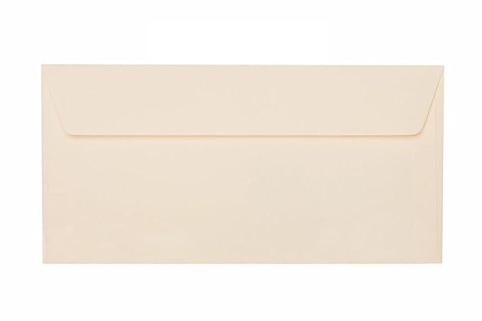 11x22 cm Zartcreme mit Haftstreifen 25 Briefumschläge DIN lang