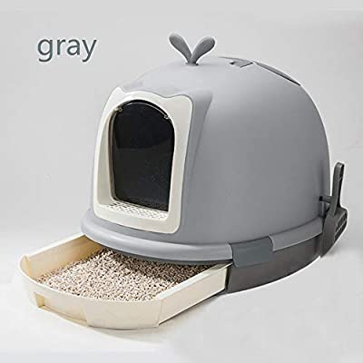 Caja de arena para gatos Gato del animal doméstico Aseo ...