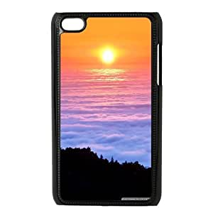 Ipod Touch 4 Cases, Sea of Fog Cases for Ipod Touch 4 {Black}