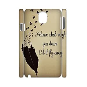 Feather Quote Fly Personalized 3D Cover Case for Samsung Galaxy Note 3 N9000,customized phone case ygtg617038