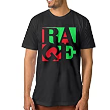 Candi Men's Rage Rock Poster Tshirt T Shirts Vintage Casual Black