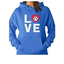 TeeStars - Dog Paw Print Love Dogs My Best Friend - Animal Lover Women Hoodie