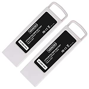 6400mAh 11.1V Battery for Yuneec Typhoon Q500 4k, VANON Replacement Li-ion Battery for Yuneec Q500+, Q500 4K, Typhoon G RC Quadcopter, Q500 Multicopter Drone (2 Pack)
