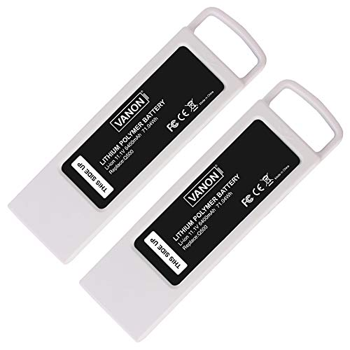 VANON Q500 4k Battery Compatible with Yuneec, 6400mAh 11.1V Battery Compatible with Yuneec Typhoon Q500 4k, Replacement Li-ion Battery Compatible with Yuneec Q500+, Q500 4K, Typhoon G RC Quadcopter