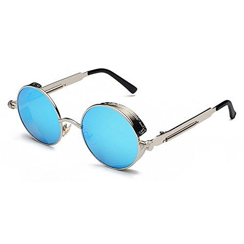 Classic Gothic Gafas UV400 Mujer C14 de Vintage sol Juleya Hombre sol de Gafas Retro redondas STEAMPUNK q7U1nXwO