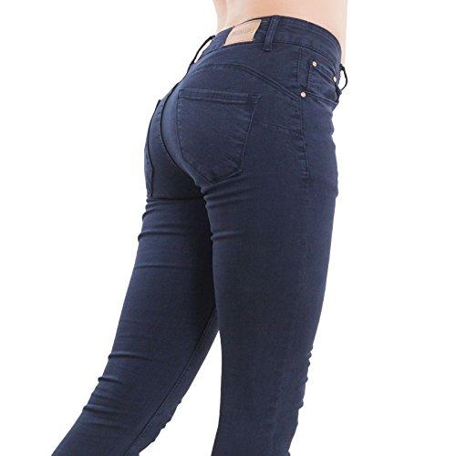 Skinny para Oscuro Mujer Azul Vaqueros Toocool vfYw66