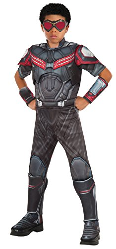 Kids Deluxe Vision Costumes (Rubie's Costume Captain America: Civil War Falcon Deluxe Muscle Chest Child Costume,)