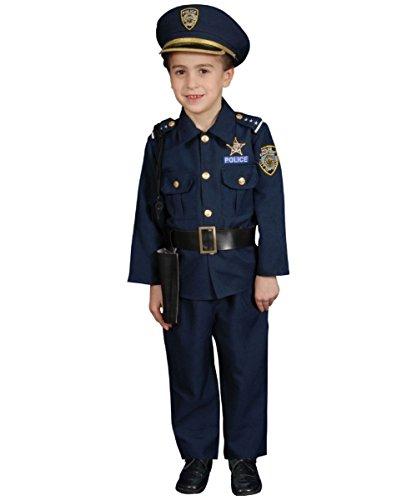 Child Deluxe Police Officer Costume Set - Size Medium (8-10) (Dress Up Police Uniform)