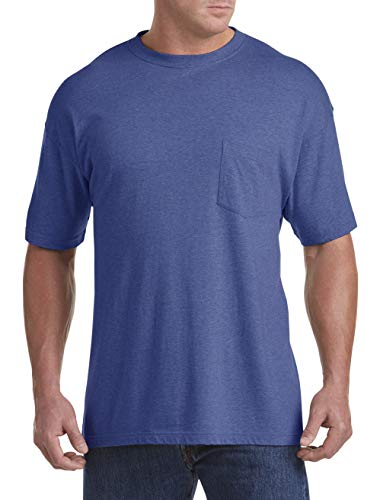 Blueprint Jersey - Harbor Bay by DXL Big and Tall Wicking Jersey Pocket T-Shirts