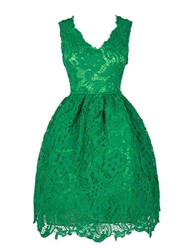 YesFashion Damen Kleider Spitzenkleid Minikleid Cocktailkleid ...