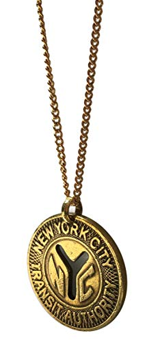 Worn History Authentic NYC Large Y (1970-1979) Subway Token Necklace (36
