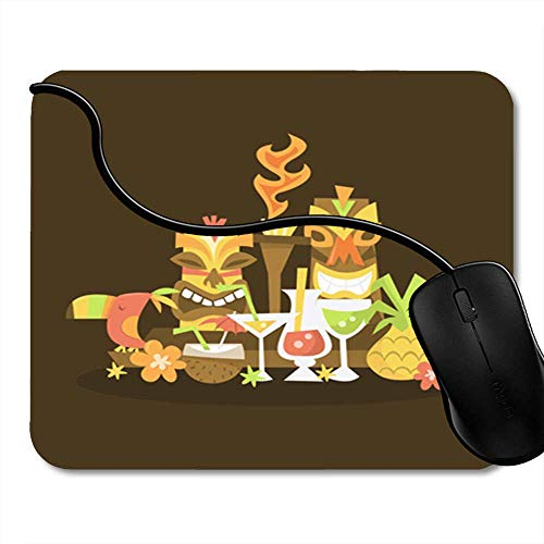Gaming Mouse Pad Blue Cartoon Werewolf Silhouette Halloween Night Moonlight Ghost Horror Scene Animal Office Computer Accessories Nonslip Rubber Backing Mousepad Mouse Mat 2F9365]()