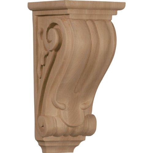 Ekena Millwork CORW04X05X10CLRO 4 1/2-Inch W x 5-Inch D x 10-Inch H Medium Classical Corbel, Red Oak