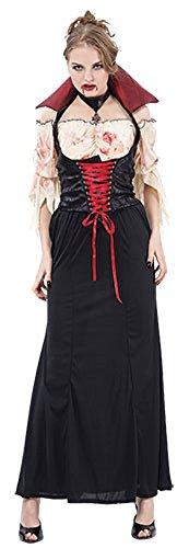 Countess Dracula Costume (Ladies Halloween Countess Blood thirst Adult Costume Onesize US 4-10 (Onesize (US 4-10), Black))
