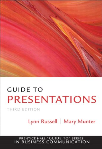 Guide to Presentations (Guide to Series in Business...