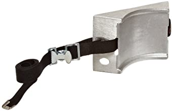 """Talboys 715 Aluminum Cylinder Wall Bracket with Strap, 1.875"""" Length x 8.125"""" Width x 4.625"""" Height"""